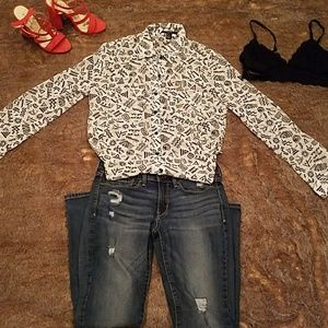 Forever 21 button up blouse